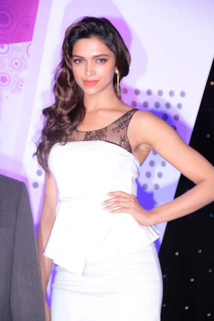 Glamours Deepika Padukone In White Dress At Bike Launch