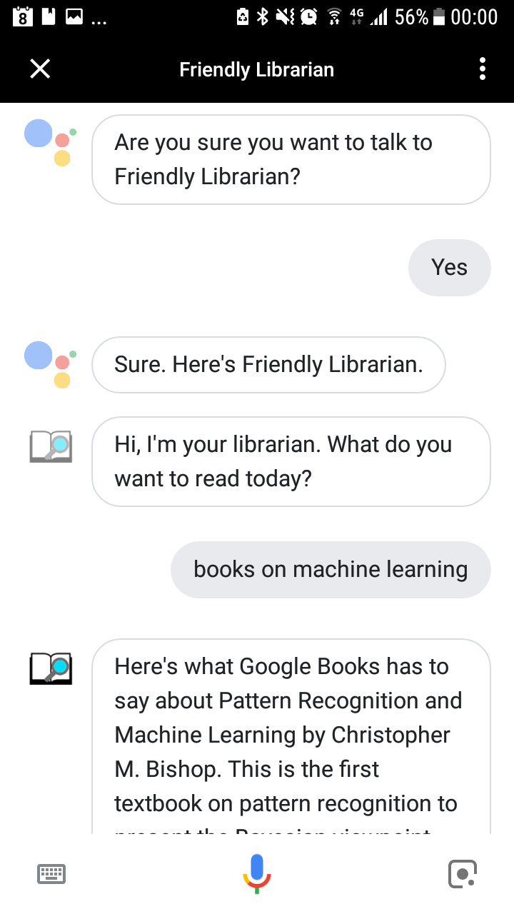 Library and academic related services on Google Assistant and Alexa