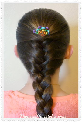 Hairstyle for St. Patrick's Day, rainbow sunrise braid