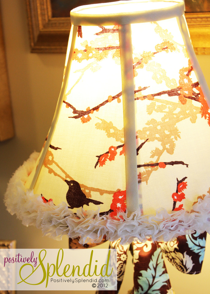 How to recover a lampshade positively splendid crafts sewing how to recover a lampshade positively splendid crafts sewing recipes and home decor aloadofball Choice Image