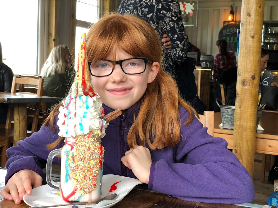 Mega Milkshakes at The Boat Shack, Derwent Reservoir  - unicorn freakshake