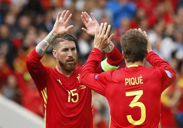 Spain Gerard Pique , Sergio Ramos