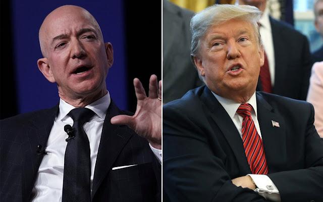 ông Trump lại mỉa mai tỷ phú Jeff Bezos trên Twitter