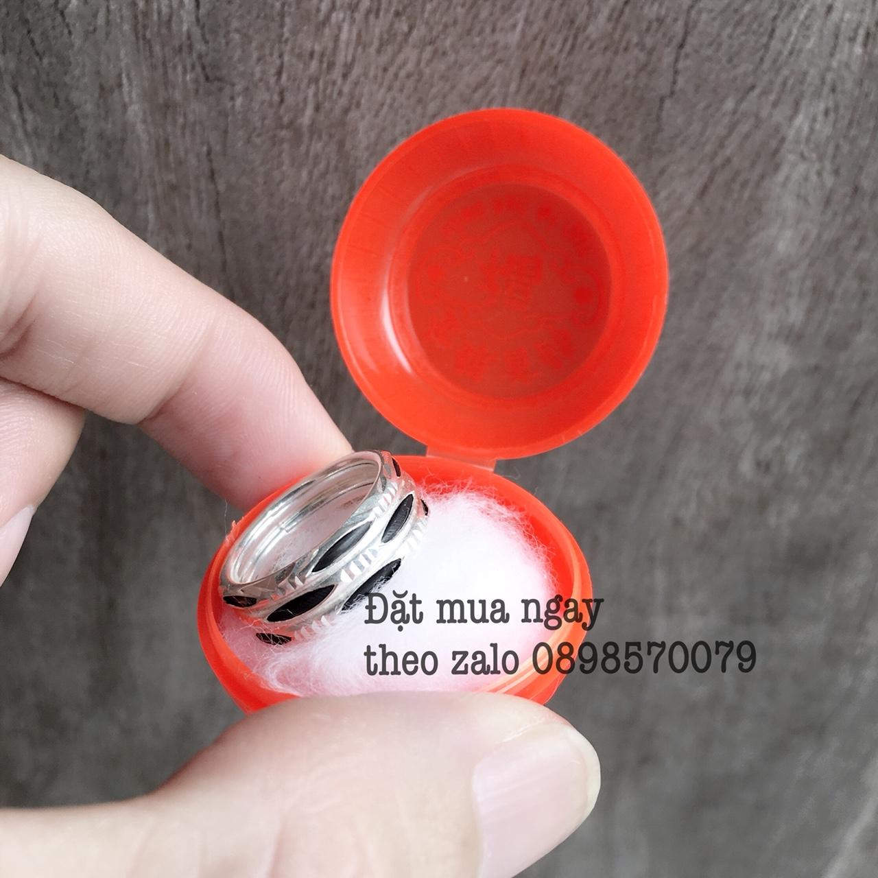 Hình ảnh mẫu nhẫn lông voi Tam Lộc bạc 3 hàng lông voi đã được một khách hàng ở Đắc Lắc đặt mua
