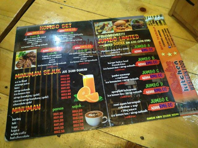 Santai Keluarga di @AzieLive Kitchen Western Food, Parit Raja Batu Pahat, Restoran western di parit raja, restoran best di parit raja,