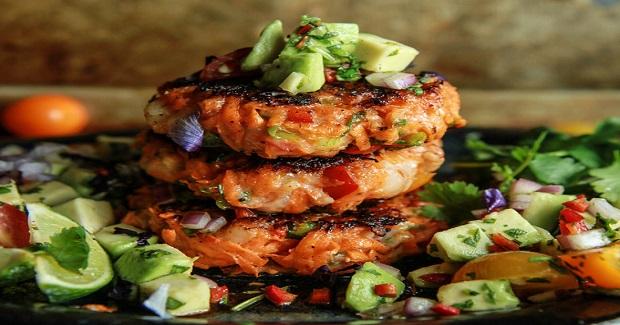 Paleo Shrimp Sweet Potato Cakes With Avocado Salsa Recipe