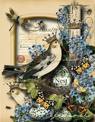 NEST- ©Jill Marcott-McCall for The Graphics Fairy Premium Membership