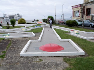 Fella's Crazy Golf course near the pier in Weston-super-Mare