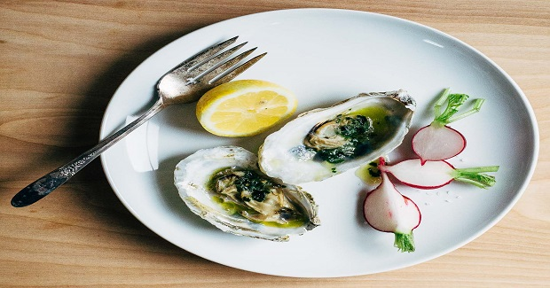 Broiled Oysters With Ramp Butter Recipe