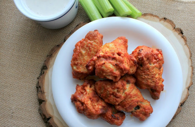 Ready for basketball playoffs? Here's a recipe for deliciously crispy oven baked hot and spicy chicken wings that are perfect for all your game day parties! #GameforBasketball #ad