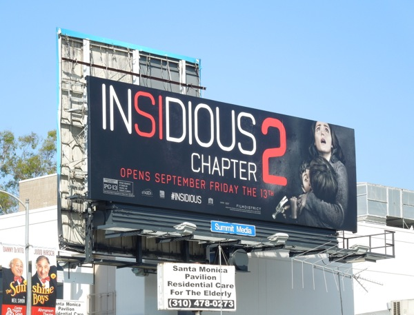 Insidious Chapter 2 film billboard