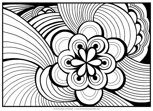 Great Coloring Pages For Adults Abstract Flowers One Of The Coloring Pages  For Adults Abstract Flowers   For Your Kids To Print Out And Find  Similar Of