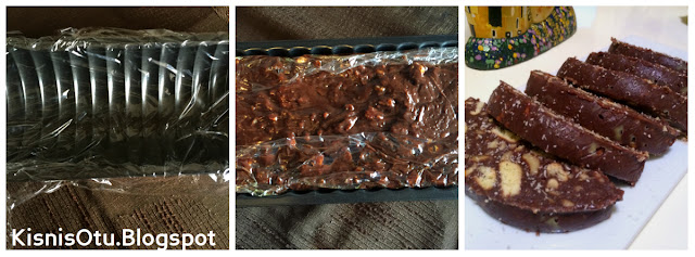 Mozaik pasta, pasta tarifleri, Salami, Çay saati, Kek tarifi, kolay tarifler, Kişniş otu