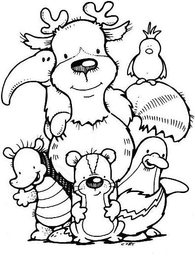 Animais Para Colorir Dia Do Amigo Pra Gente Miuda