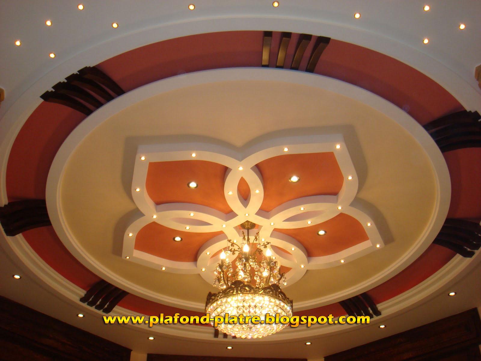 Decoration Platre Plafond | Cuisine Great Decor Plafond D 233 Cor ...