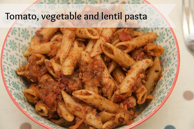 Tomato-vegetable and-lentil-pasta
