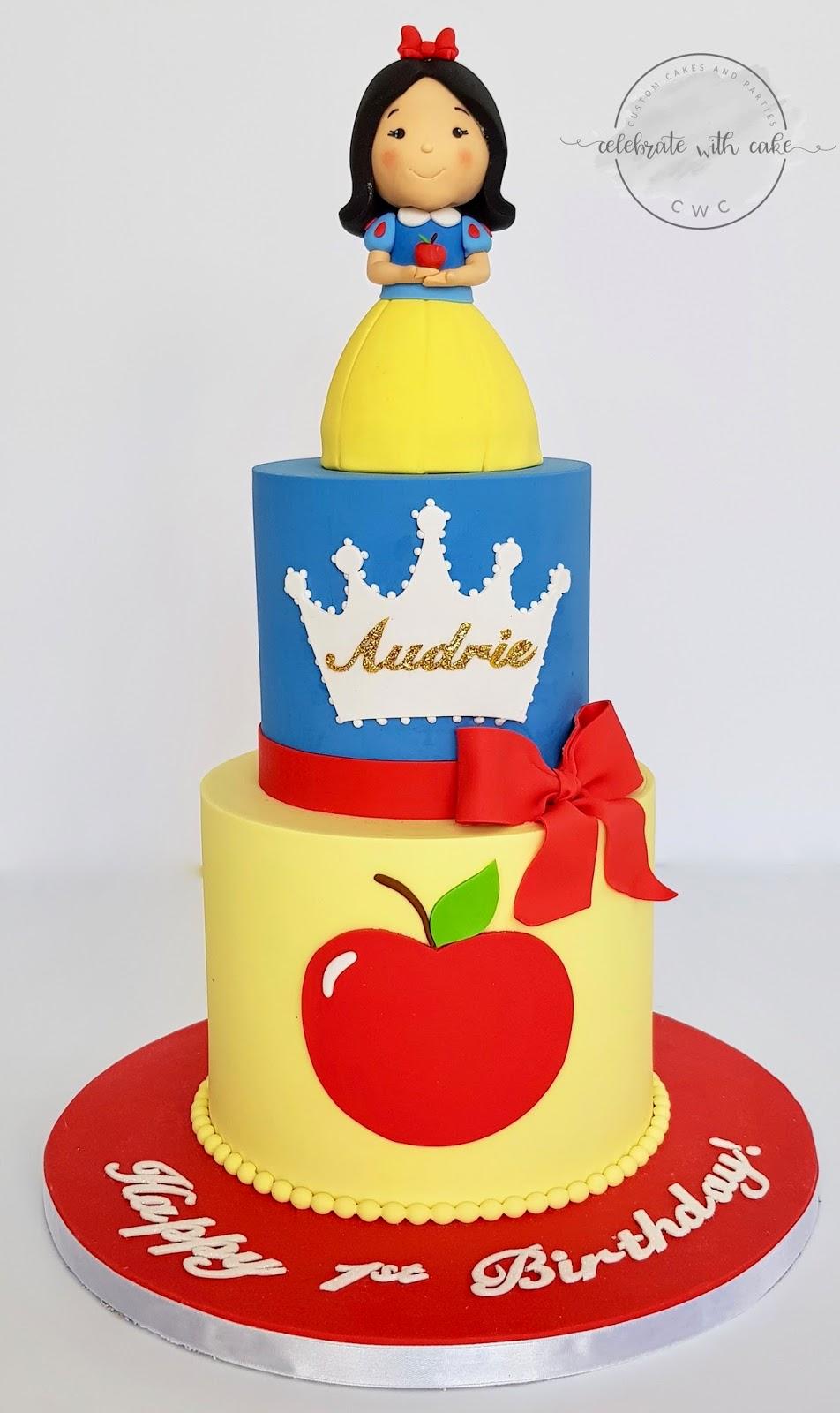 Pleasant Celebrate With Cake Snow White 1St Birthday Cake Funny Birthday Cards Online Alyptdamsfinfo