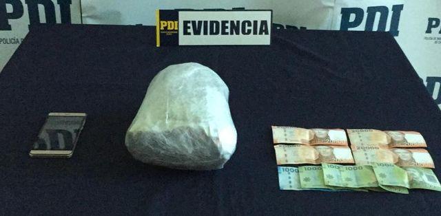 🚨 Detenido con más de mil dosis de cannabis en Pargua