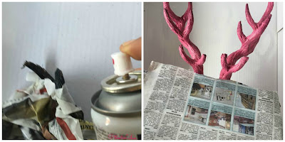 DIY / TUTORIAL CABEZA DE CIERVO CON CHALK PAINT Y SPRAY