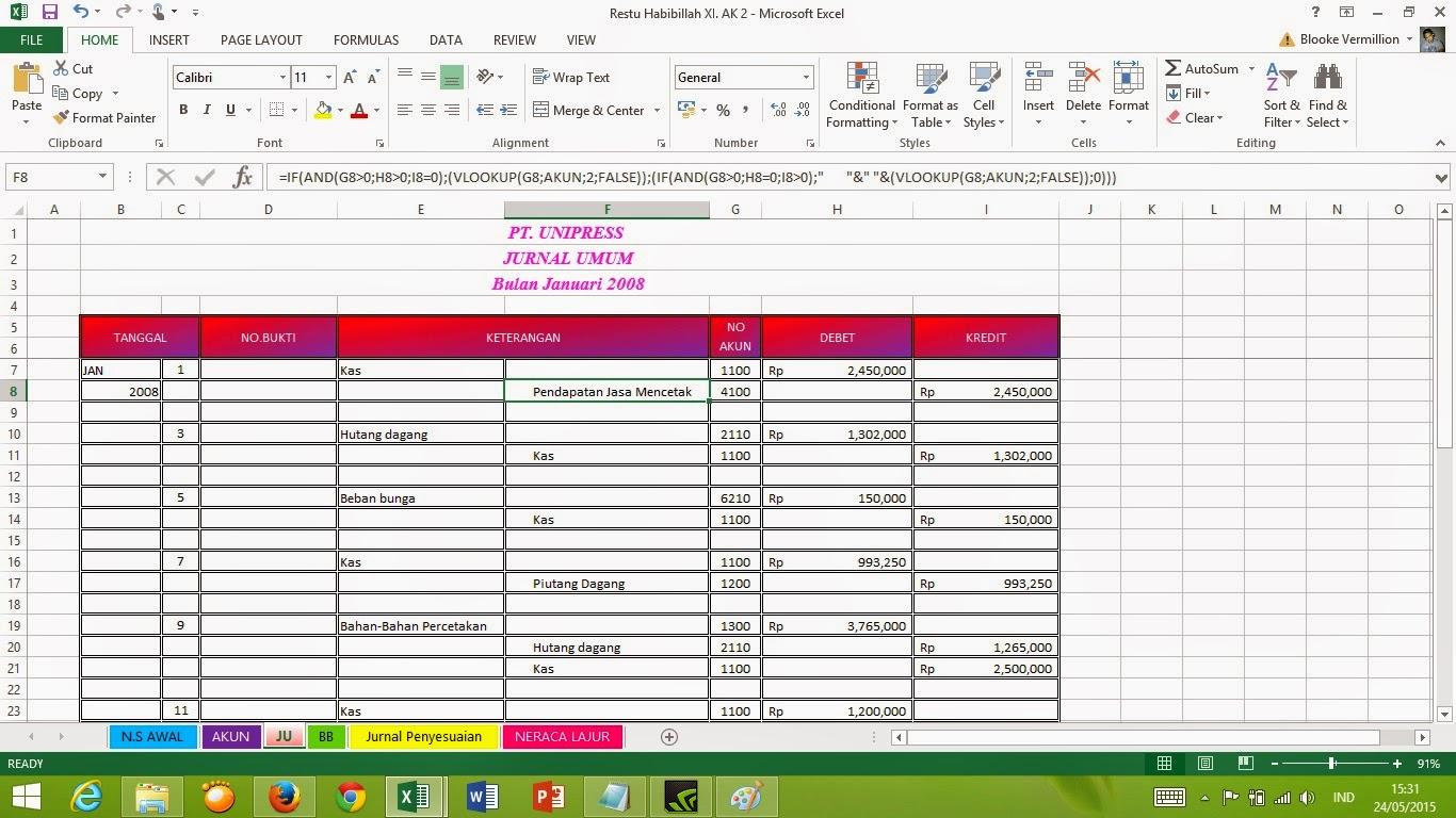 Vermillion Cara Mengerjakan Akuntansi Dengan Excel Spreadsheet