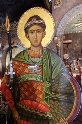 Εικόνα του Αγίου Δημητρίου στους Αγίους Ισιδώρους Λυκαβηττού