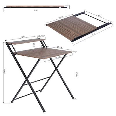 مكتب قابل للطي، طاولة قابلة للطي، مكتب وطاولة
