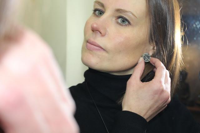 Mes jolies boucles d'oreilles en cristal de chez Maison Vessiere
