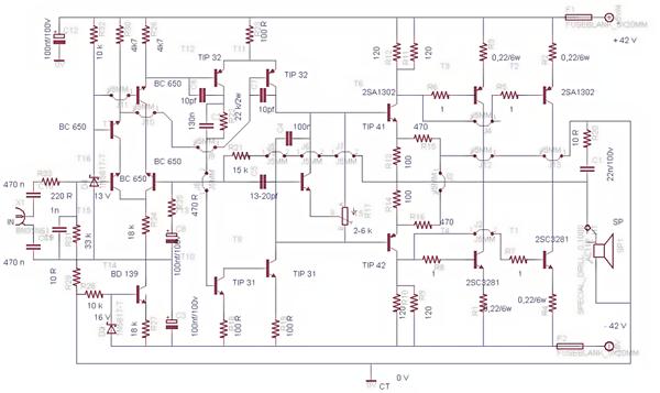 2000 watts power amplifier schematic diagram 93 s10 stereo wiring free 2sc5200 2sa1943 500watt circuit