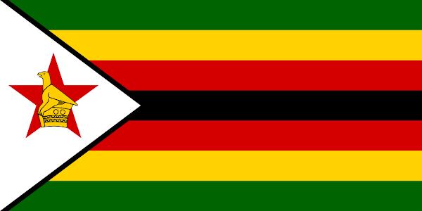 Logo Gambar Bendera Negara Zimbabwe PNG JPG ukuran 600 px