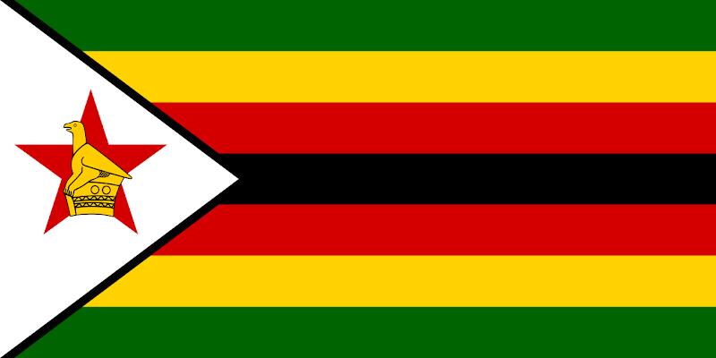 Logo Gambar Bendera Negara Zimbabwe PNG JPG ukuran 800 px