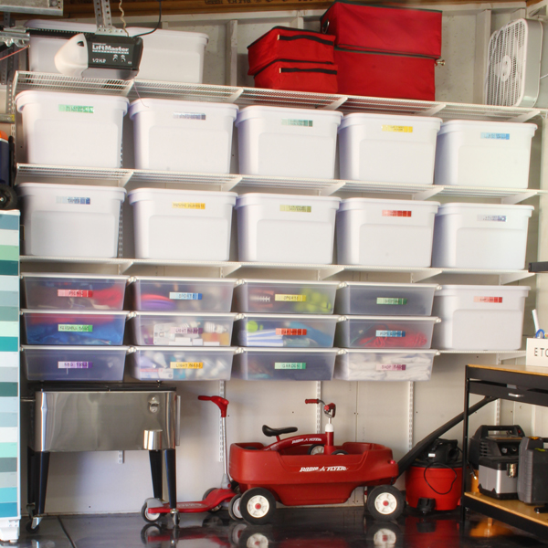 how to install a wall of garage shelving and drawers blue i style rh blueistyleblog com wall mounted garage shelving ideas wall mounted garage shelves uk