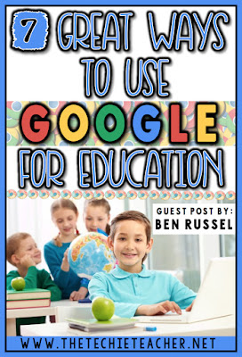 7 Great Ways to Use Google for Education. Topics include: Google Scholar, Google Books, Google Classroom, Gmail, Google Alerts, Google Hangouts, & Google Drive.