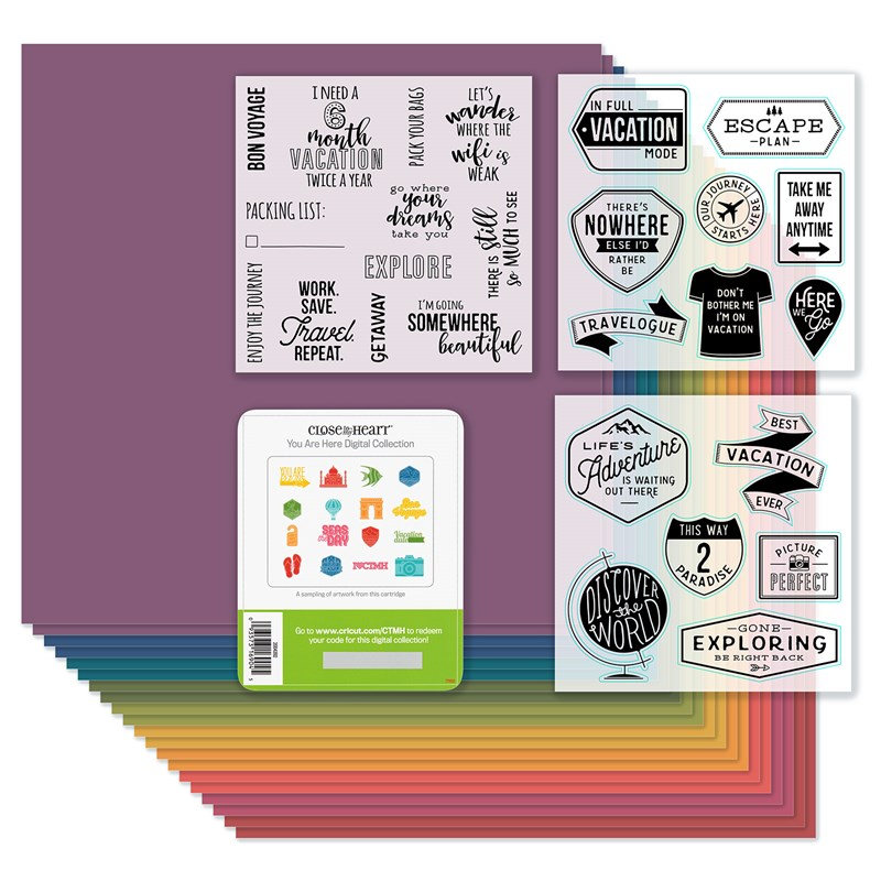 "Have you seen our newest ""You Are Here"" digital Cricut Collection?"