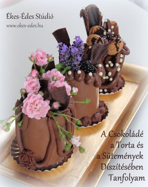 díszítés csokoládéval