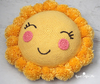 Kidz Korner - Sunshine Pom Pillow