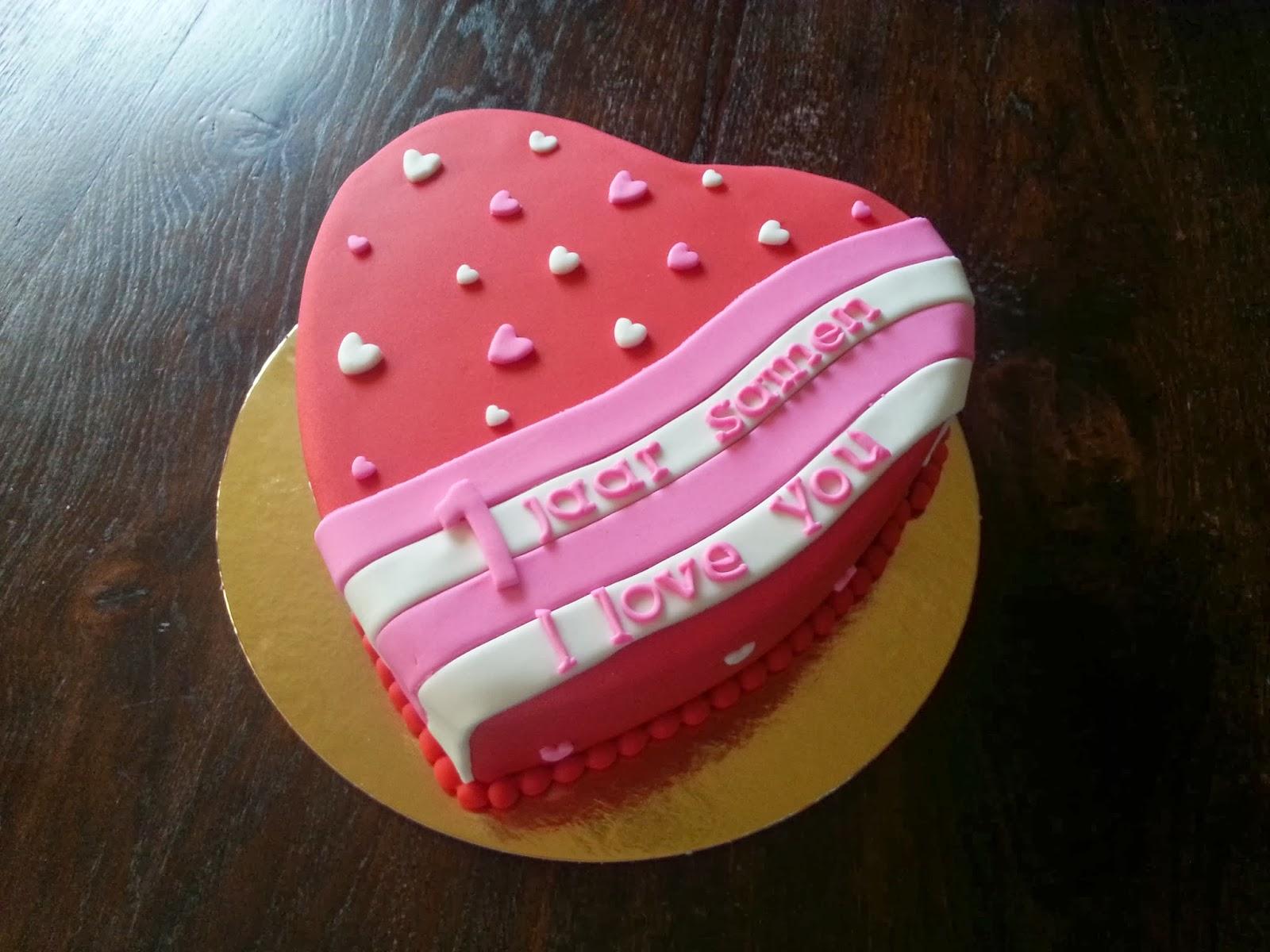 een jaar samen Liza's Taarten & Cupcakes: 1 jaar samen een jaar samen