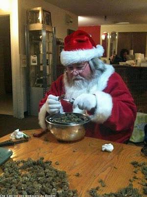 Drogenmissbrauch vom Weihnachtsmann lustige Hanf Bilder