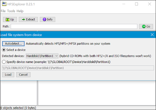Read HFS+ formatted drive on windows for free using HFSExplorer