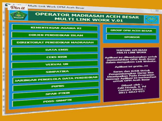 Aplikasi Multi Link Untuk Operator Sekolah