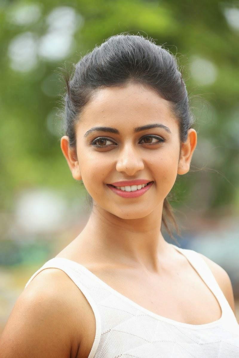 Tollywood Actress Rakul Preeth Singh Photos In White Top