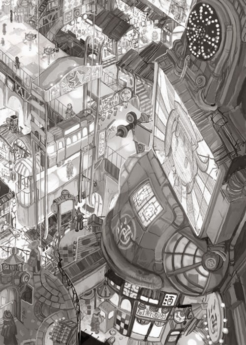 03b-Teikoku-Shounen-Architectural-Drawings-in-Color-and-Black-and-White-www-designstack-co