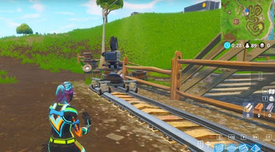 Retail Row, Rail Road, Film Camera Locations, Fortnite, BR