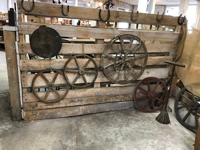 Antique Farm Equipment at Historic Round Barn in Adams County Pennsylvania