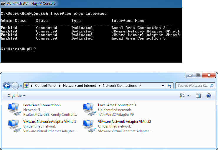 Windows - Command change dns