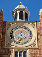 The clock at Hampton Court Palace