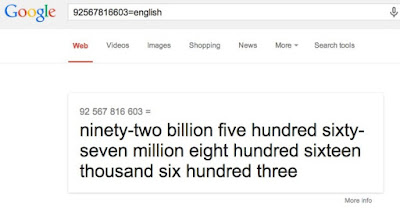 google numbers and figures to english