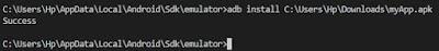 Install Aplikasi Android di Emulator
