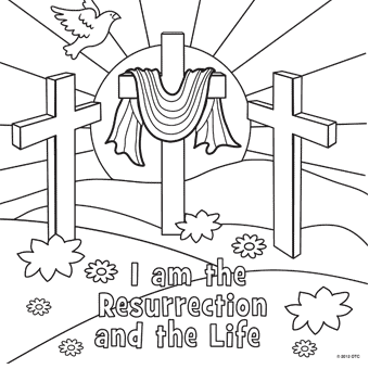 easter coloring religious pages