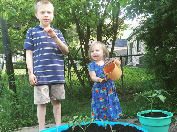 Gardening with Kids: Our DIY Swimming Pool Garden