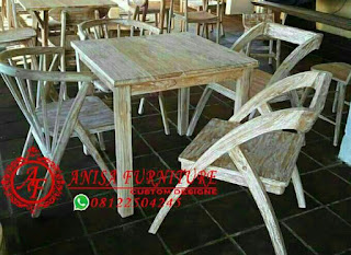 Kursi Meja Makan Minimalis Cafe Jati